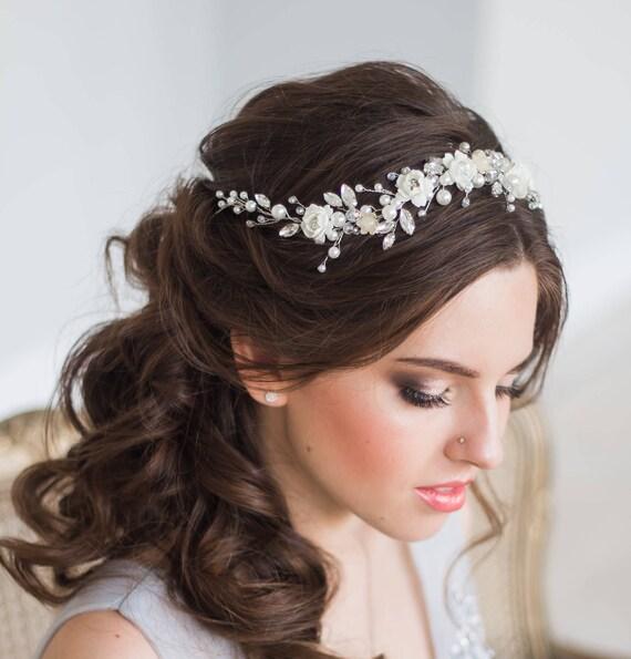 bloom bridal hair vine wedding
