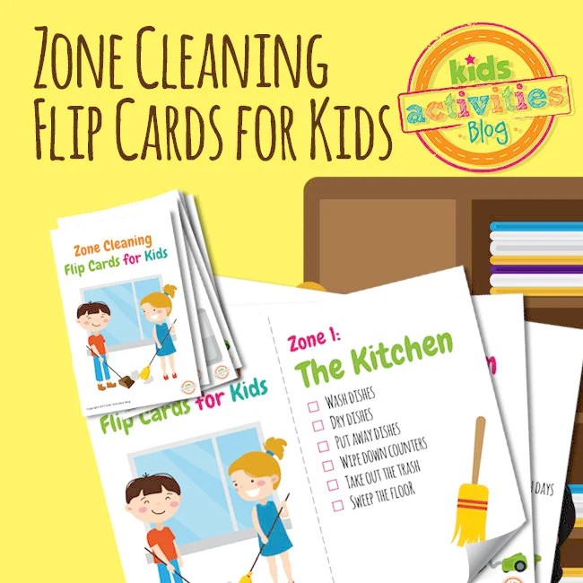 also zone cleaning chore chart flip cards for kids rh etsy