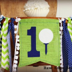 Age For High Chair Helinox Swivel Youtube Golf Birthday Highchair Banner Blue