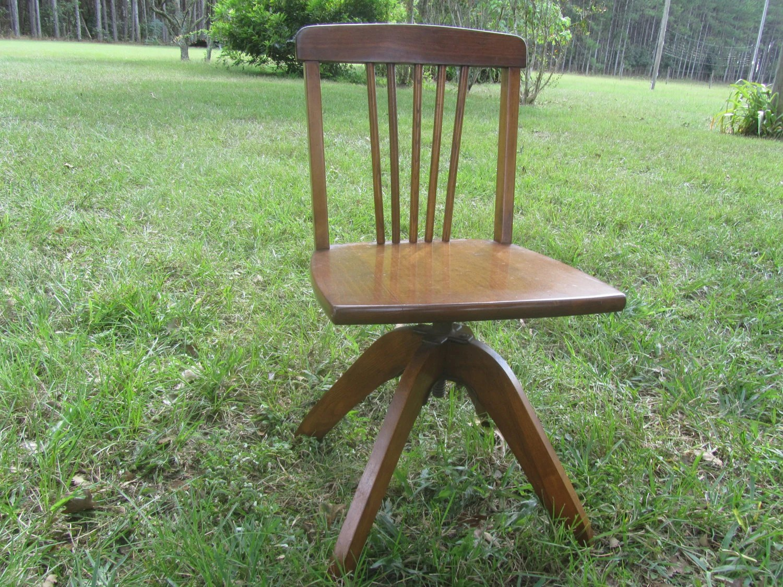 swivel chair child makeup walmart vintage 39s desk seat wood