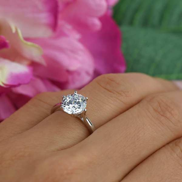 2 Ct Classic Solitaire Engagement Ring Profile Man