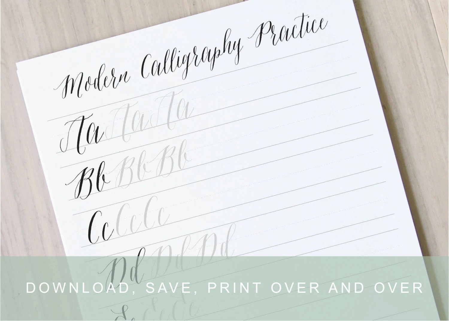 Modern Calligraphy Worksheet Pointed Pen Calligraphy Alphabet