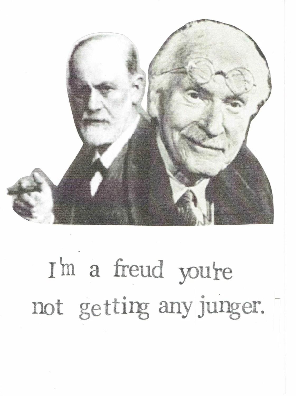 Freud Jung Birthday Card Funny Psychology Happy Birthday