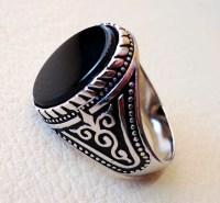 flat black onyx agate aqeeq stone arabic turkish ottoman style