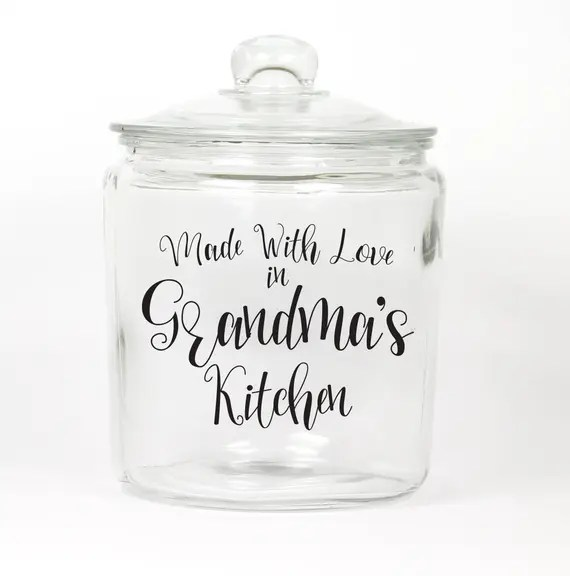 Made With Love Glass Cookie Jar