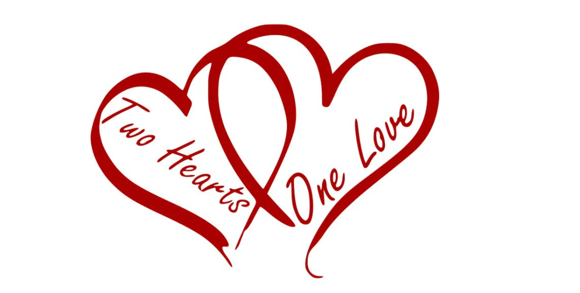 Download Two Hearts One Love svgdxfepspngjpgand pdf