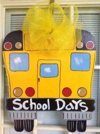 Front door decor Bus door sign Classroom door hanger
