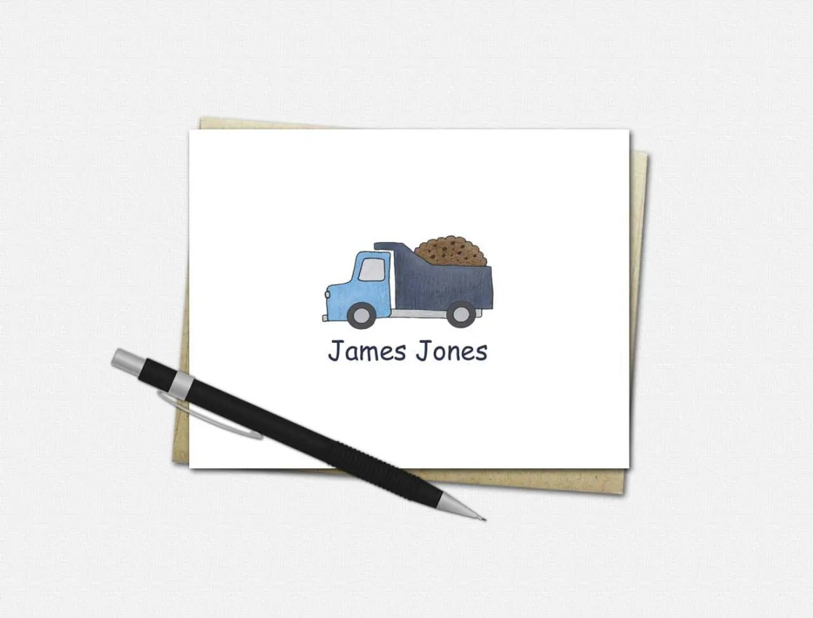 Custom Note Cards for Boy...