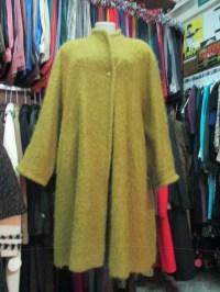 Mantel wolle Boucl 80 Jahre Senf. Oversize.Tg L/80 s Oversize