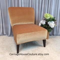 Slipcover For Armless Slipper Chair Royal Blue Sashes Sale Gold Velvet Cover