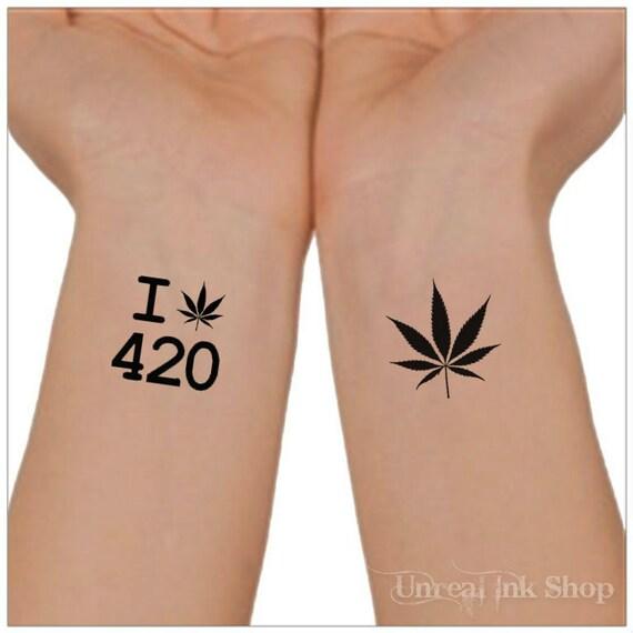 Fake Weed Tattoos