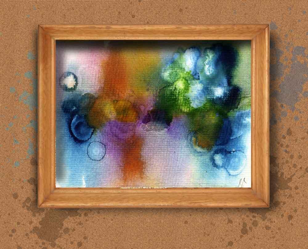 Blue Orange Abstract, Bri...