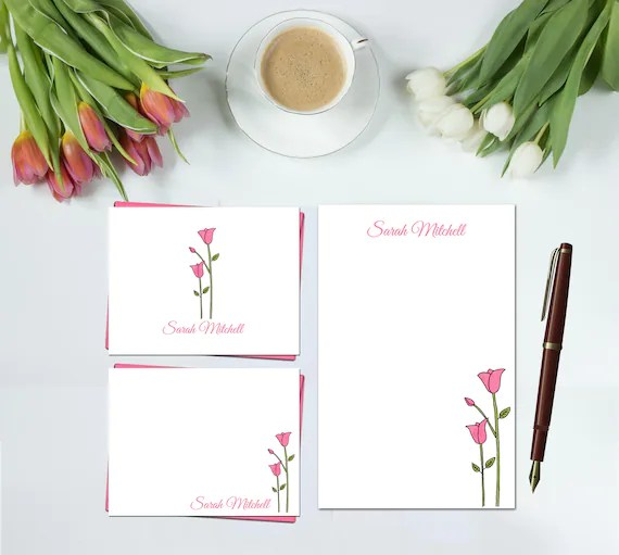Tulip Stationery Set