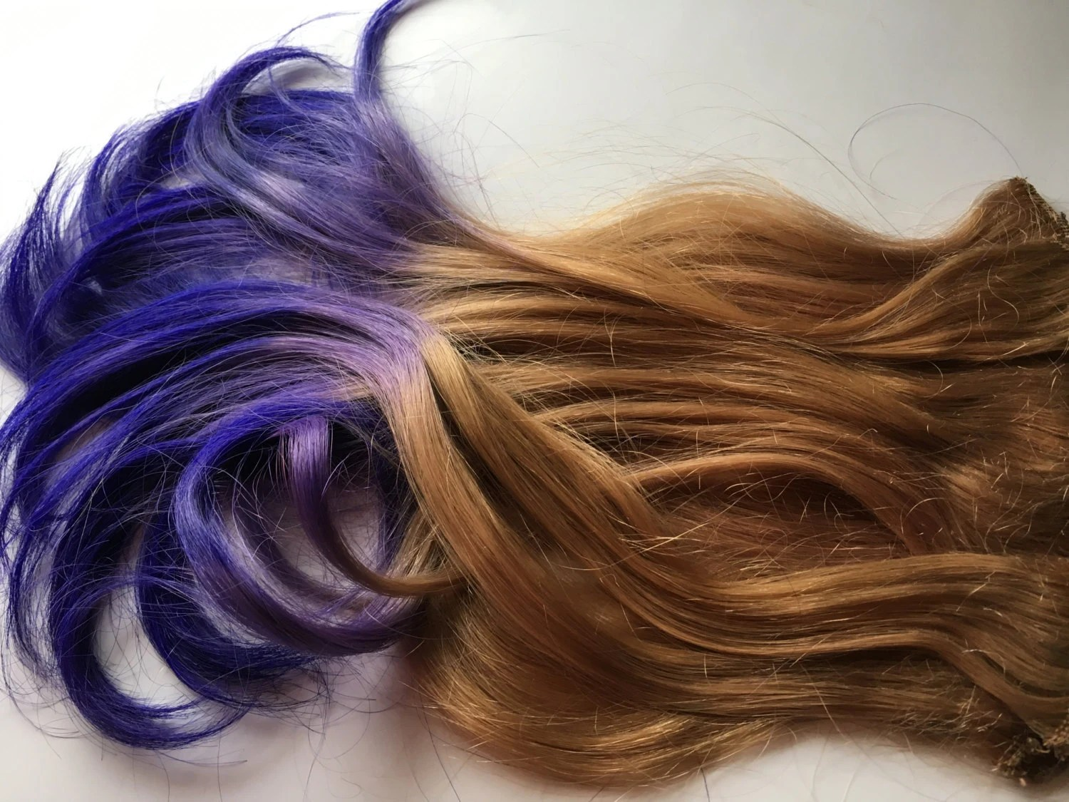 purple and blonde ombre fade dip