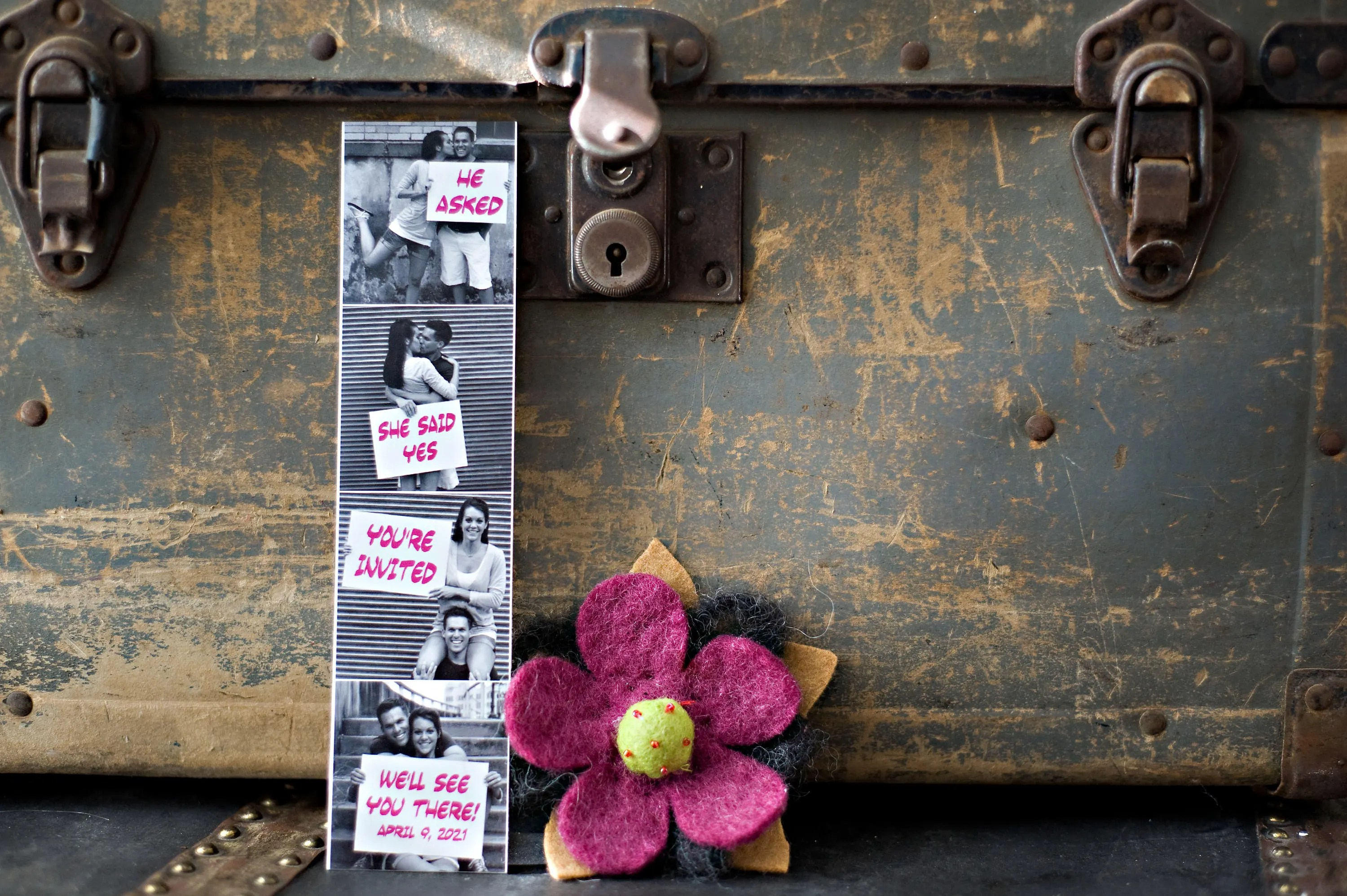 Save Date Booth Film Strip Magnet