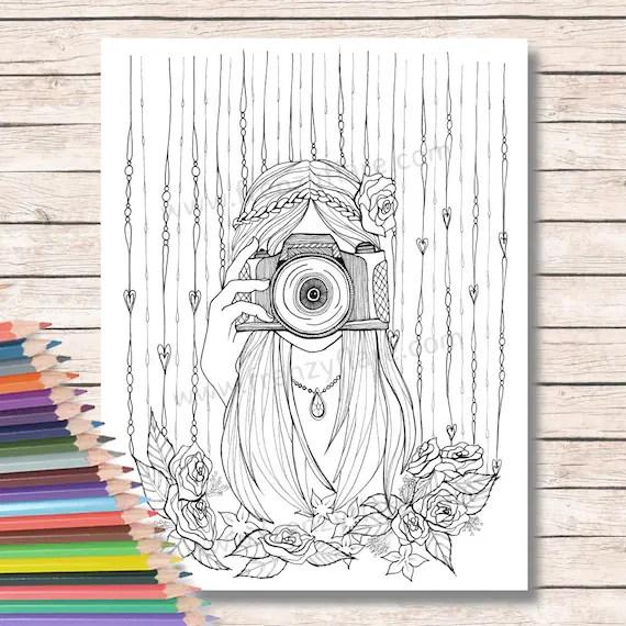 Stampa disegni da colorare per adulti o bambini Ragazza con