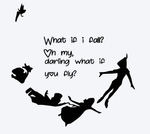 Create My Own 3d Name Wallpaper Svg Disney What If I Fall What If You Fly Peter Pan Quote