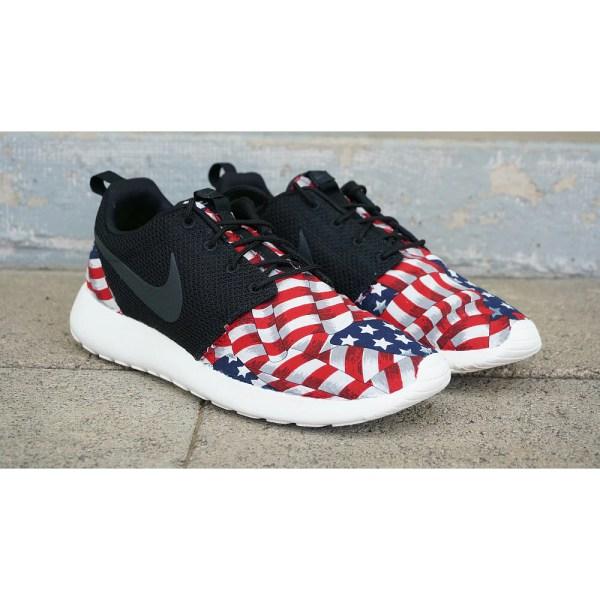 Nike Roshe Run Custom Red White Blue American Flag Edition
