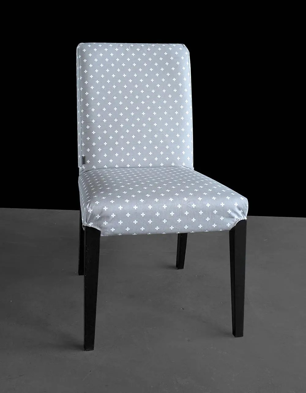 poang chair covers etsy rental new orleans gray crosses custom ikea henriksdal dining cover