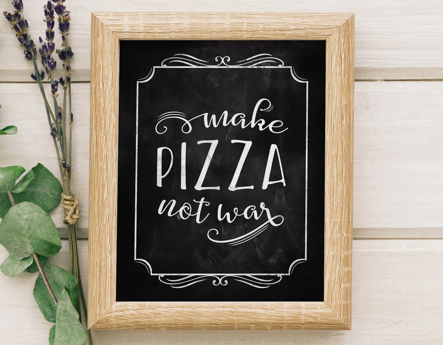 Pizza Quotes Etsy