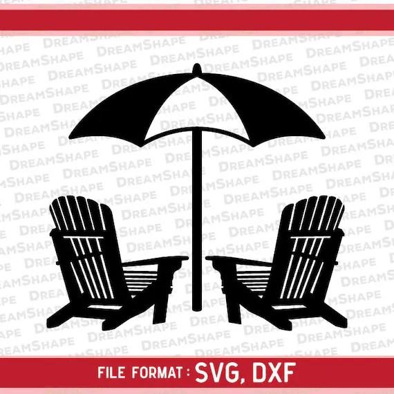 Beach Chair SVG Files Beach Chair DXF Cut Files Beach Chair