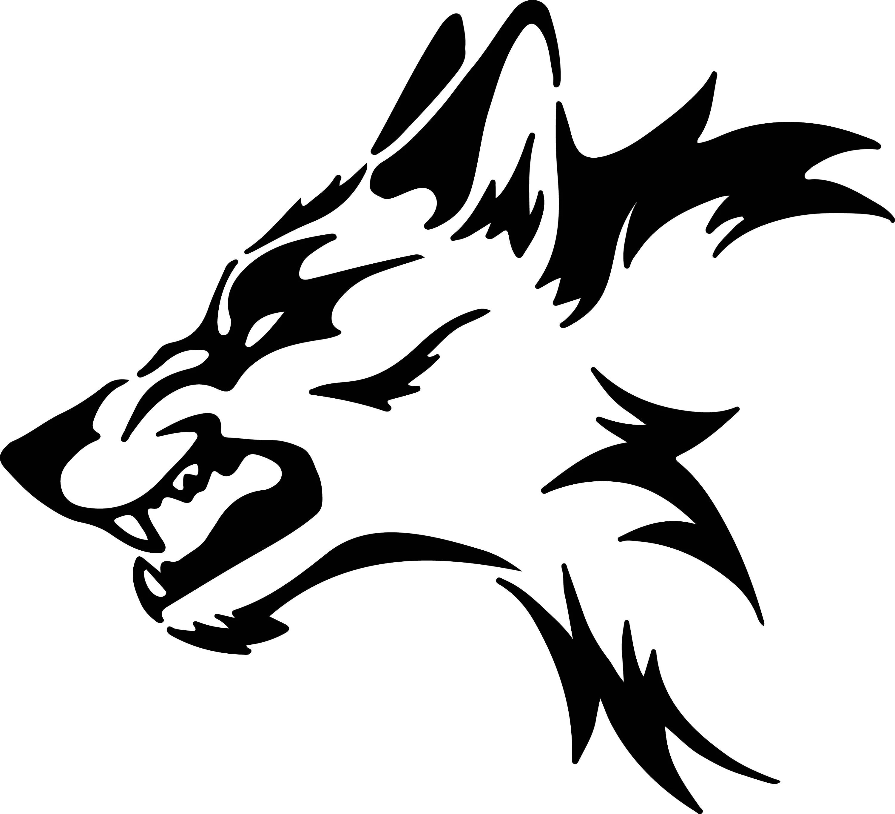 Wolf Svg Files Silhouettes Dxf Files Cutting Files Cricut
