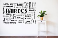hairdo decal, hairdo wall decal, hair salon decor, hair ...