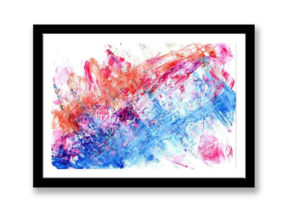 Blue and red abstract // ...