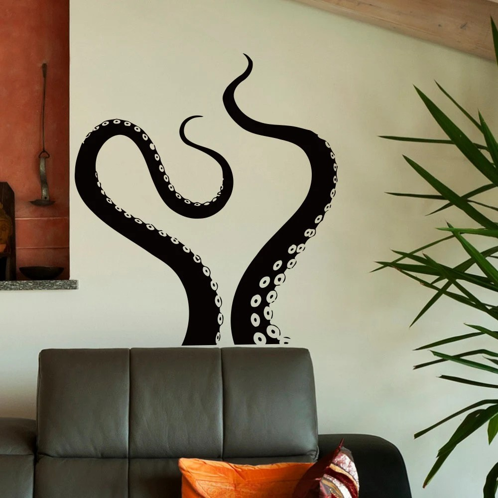 Wall Decal Octopus Tentacles Vinyl Stickers Sea Animal Kraken
