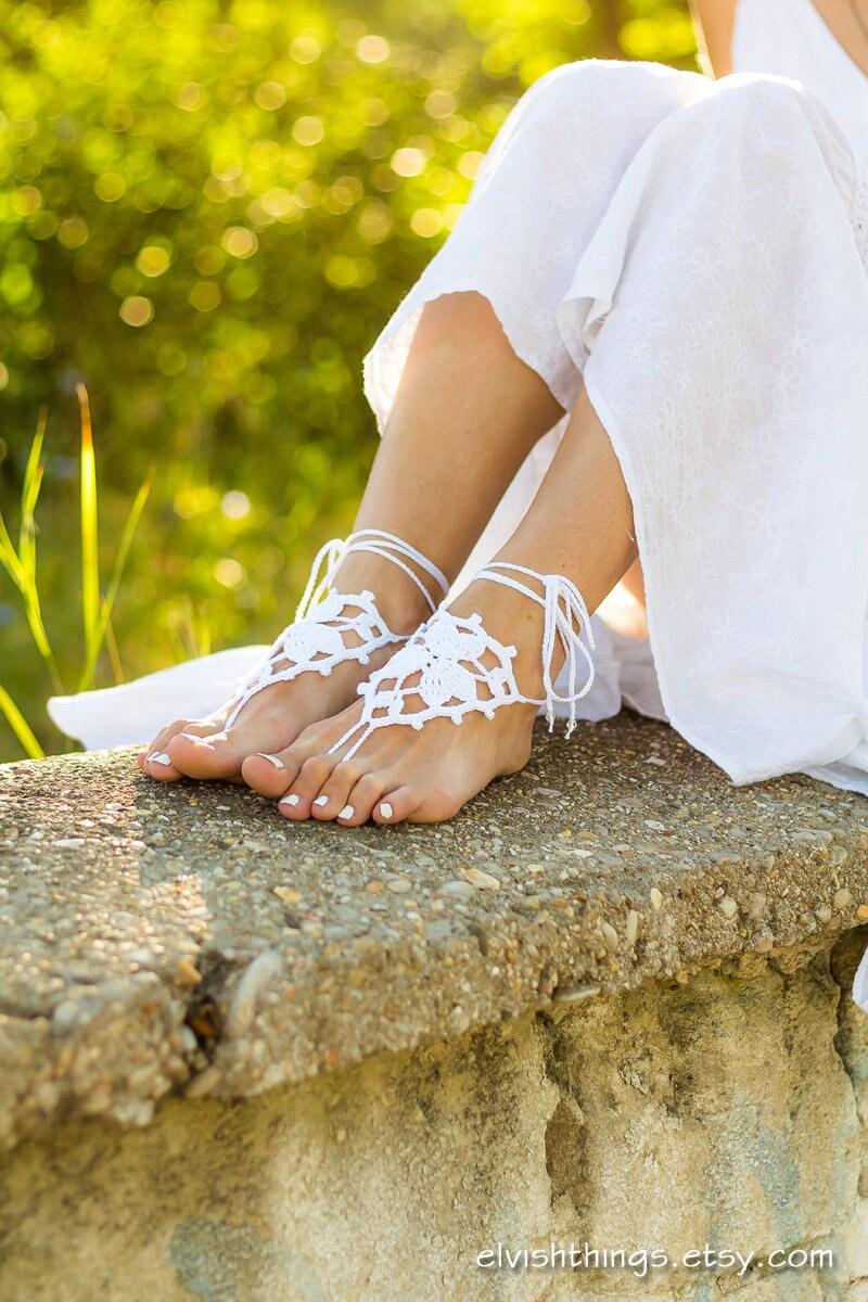 Beach Wedding Barefoot Sandals Foot Jewelry Soleless