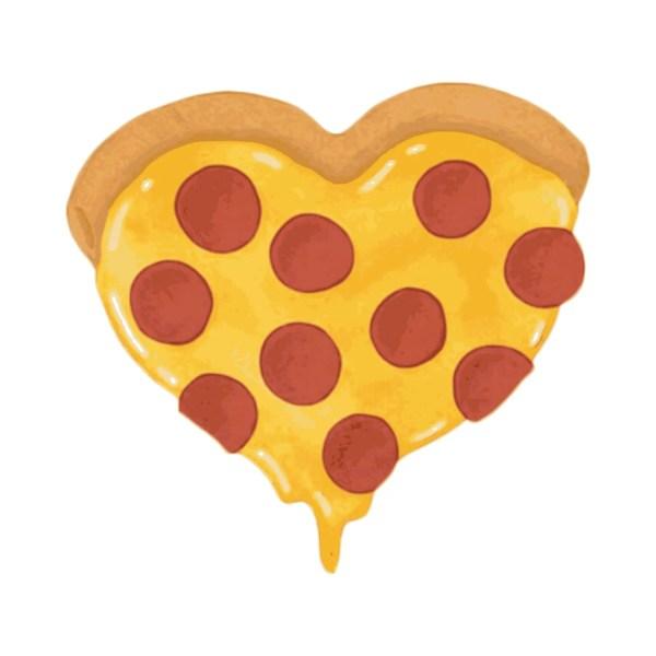 heart pizza clip art