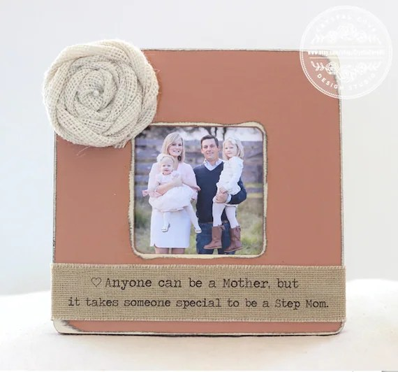 Gift For Step Mom Step Mother Personalized Picture Frame For