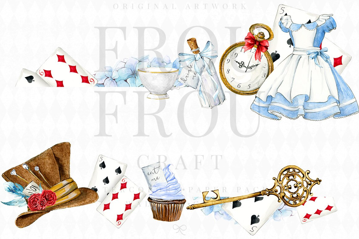 Playing In The Fall Wallpaper Alice In Wonderland Clipart Alice Clip Art Watercolor