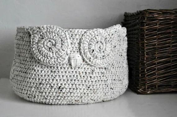 Owl Crochet Basket