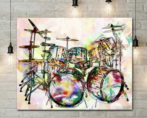 Drum Art Drums Drummer Gift Music Prints Drums Music