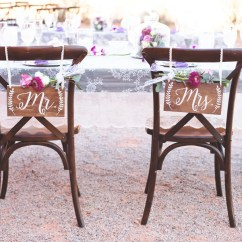 Mr And Mrs Chair Signs Swimming Pool Lounge Chairs Wedding Sign