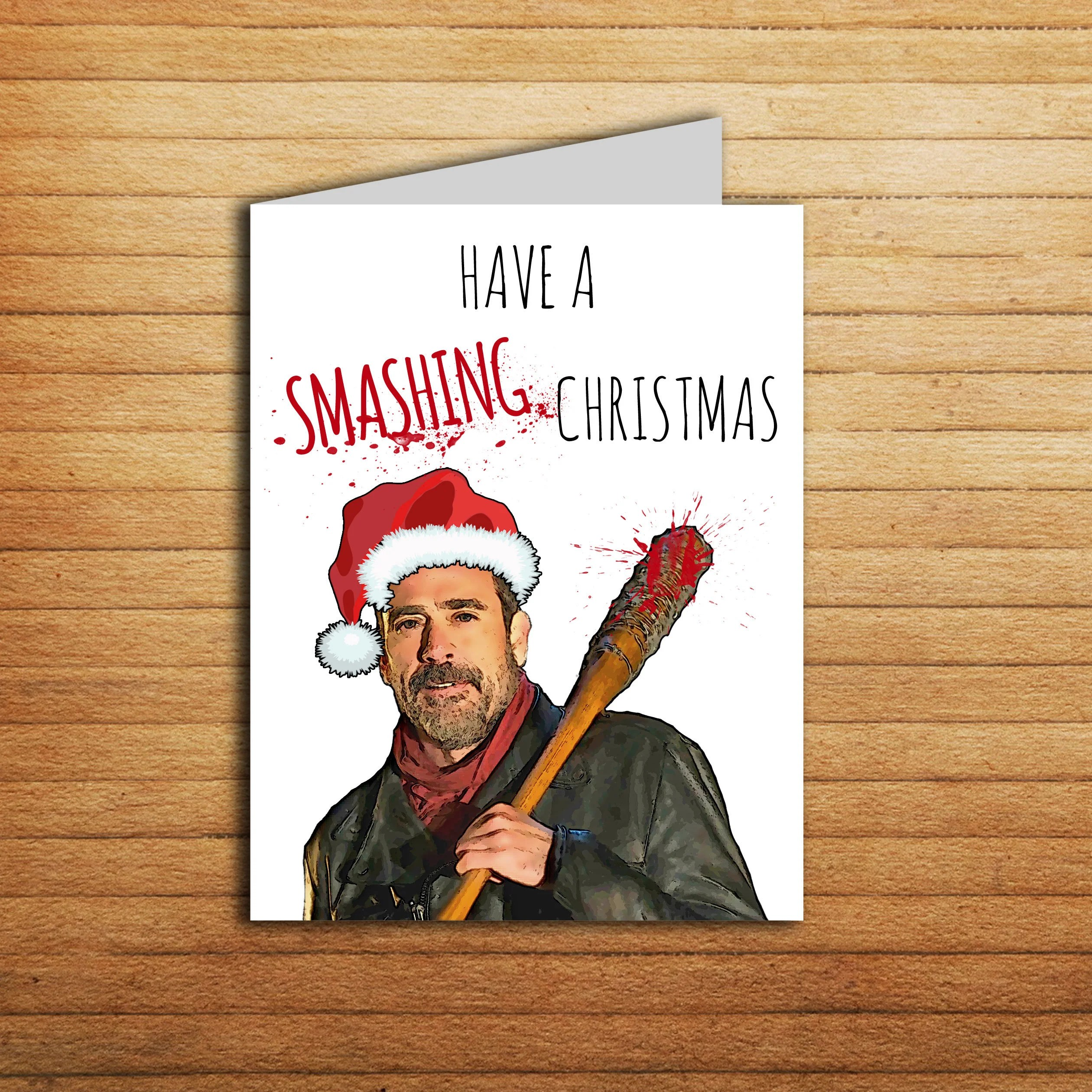 The Walking Dead Christmas Card Printable Negan Card Have A