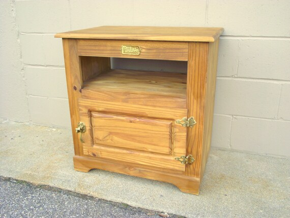 White Clad Icebox Side Stand Cabinet Credenza End Table