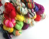 Hand dyed yarn, superwash...
