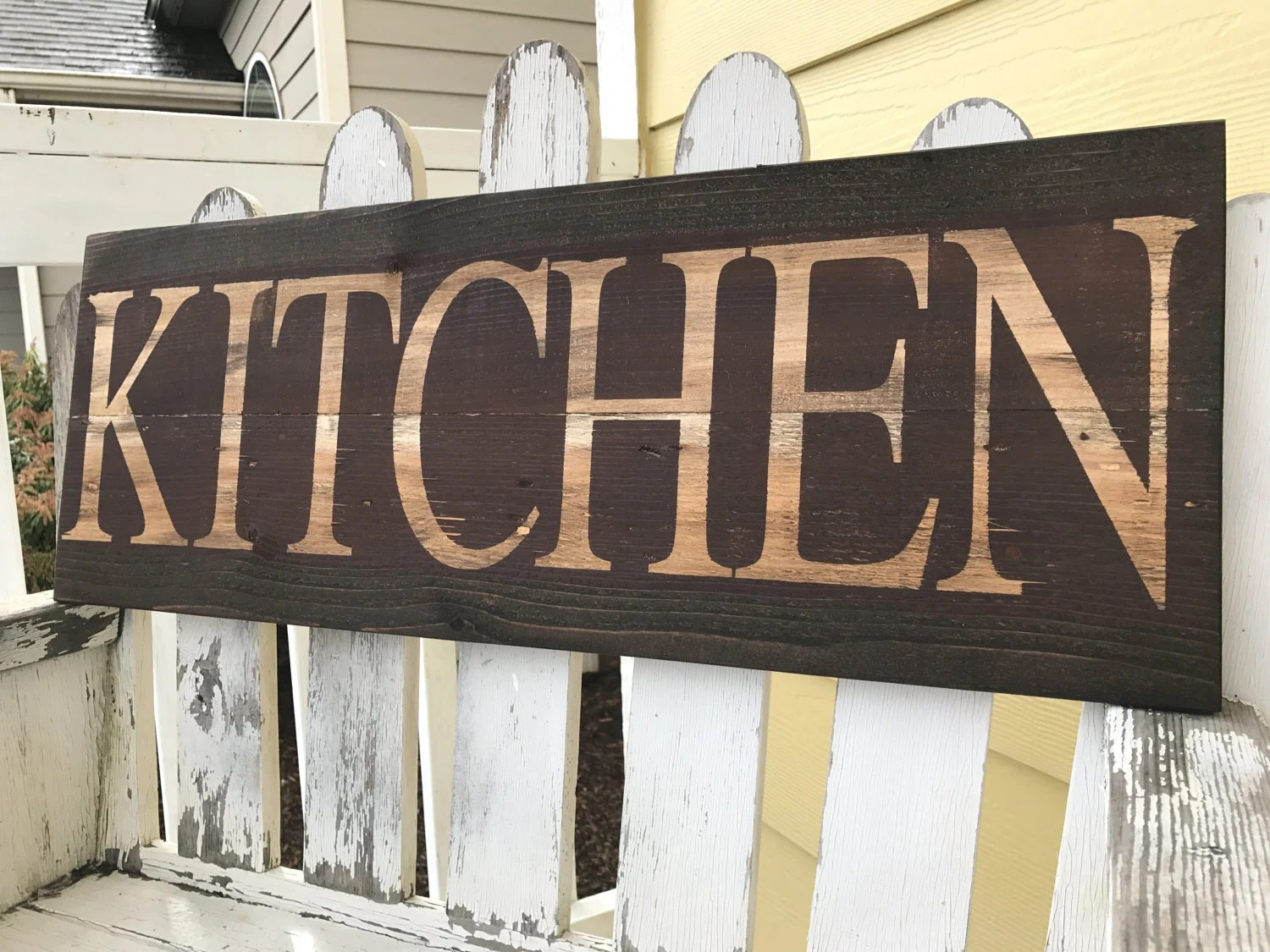 Kitchen Signs Decor Rustic Country Brown Red
