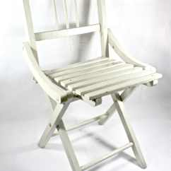 Wooden Youth Chair Hunter S Specialties Tripod With Back White Kids Foldable 1930s Furniture Vintage