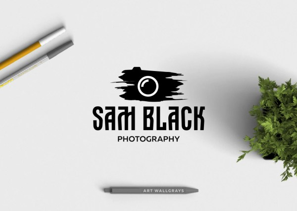 Premade Logo Design Camera Brush Watermark