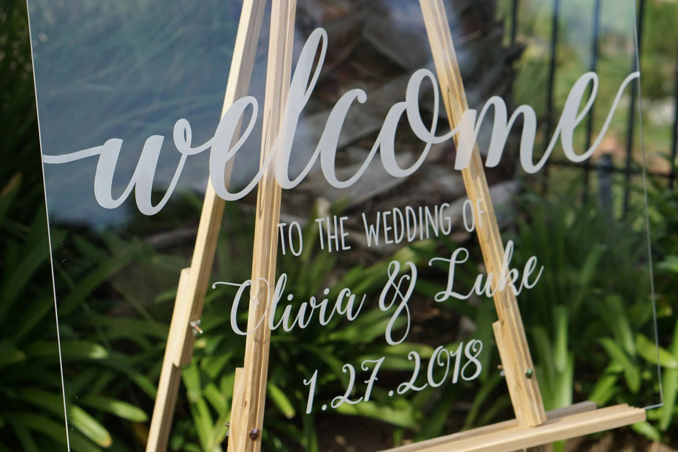 Clear Wedding Welcome Sign Wedding Signs Personalized