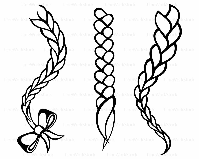 hair braided svg braid clipart