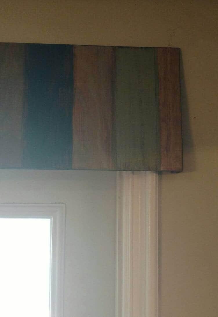 Rustic Wood Awning Window Valance Custom Window Treatment