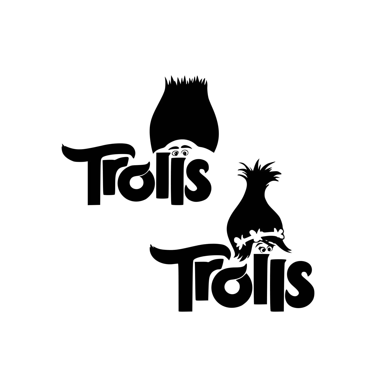 trolls svg troll hair disney
