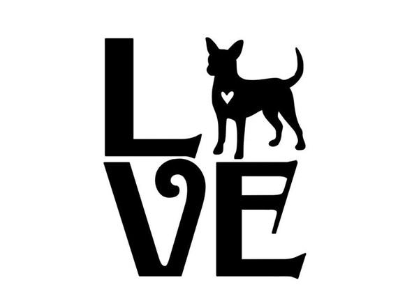 Download Love Chihuahua Pet Vinyl Decal Car Sticker Pet Decals