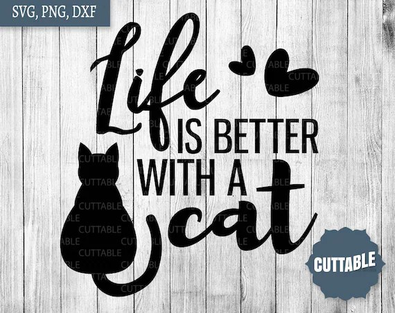 Download Cat lover cut files, cat quote svg cut files, Life is ...