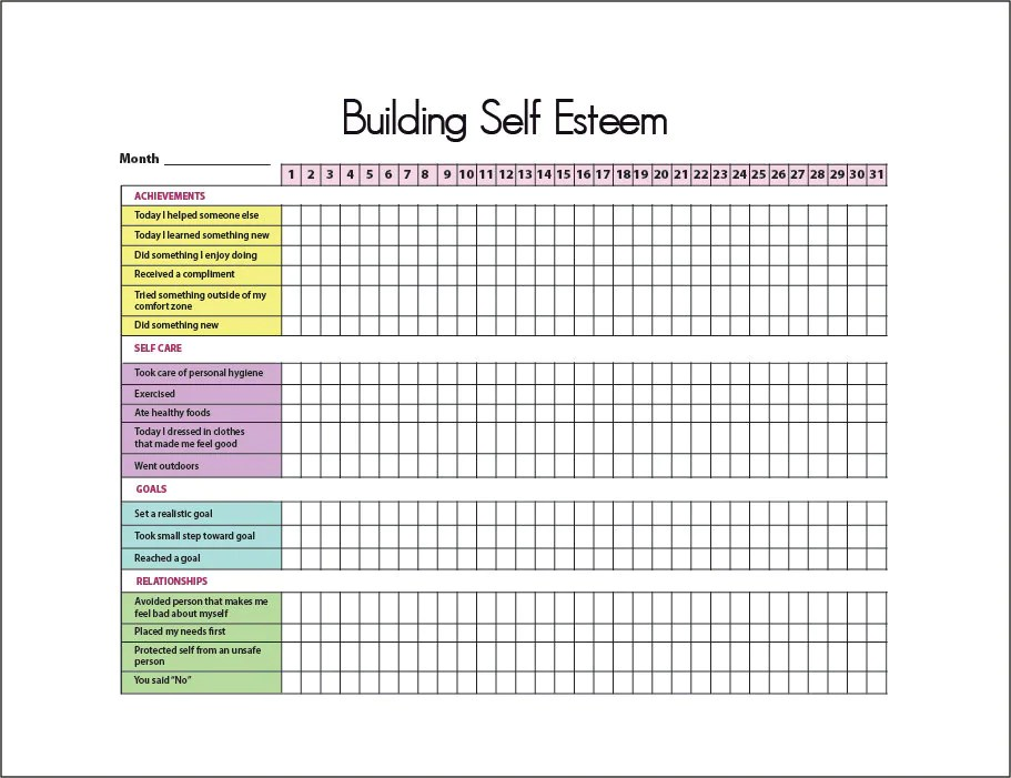 Improving Self Esteem Exercises