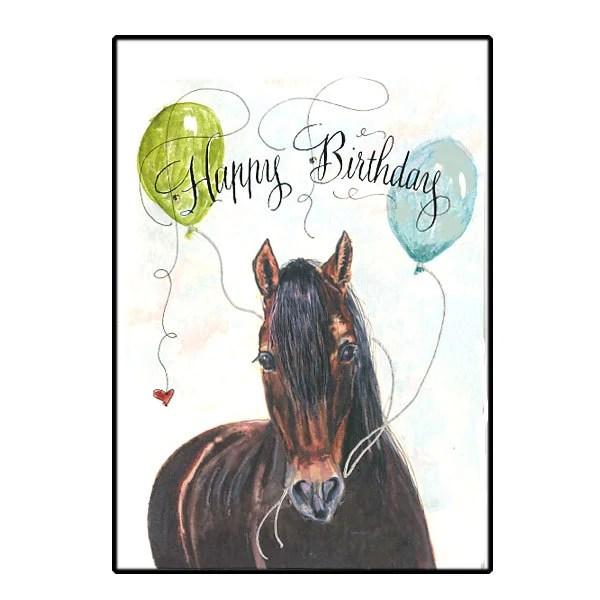 Birthday Horse Card Horse Happy Birthday Card Handmade Horse